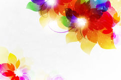 Transparent flowers abstract Stock Photo