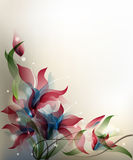 Transparent flowers background Royalty Free Stock Image