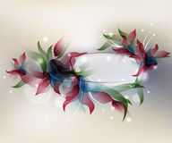 Transparent flowers background Stock Images