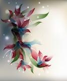 Transparent flowers background Stock Photos