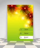 Transparent flowers business flyer design Royalty Free Stock Images