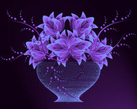Transparent flowers in vase Stock Images