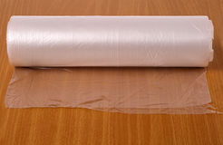 Transparent food wrap Royalty Free Stock Image