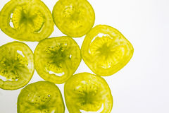 Transparent fruit slices Stock Image