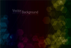 Transparent Funky Polygon background Royalty Free Stock Photos