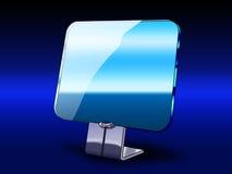 Transparent futuristic monitor in dark Royalty Free Stock Image