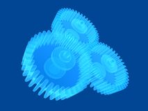 Transparent gears Stock Images