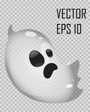 Transparent ghost on checked background. Halloween vector illustration. Royalty Free Stock Photography