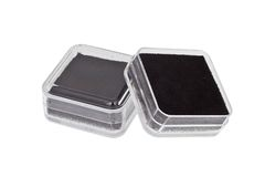 Transparent gift box Stock Images
