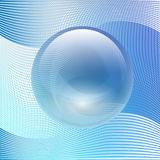 Transparent glass ball on abstract background Stock Image