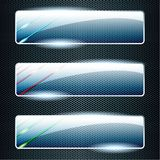 Transparent Glass Banners With Color Elements Stock Photos