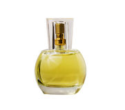 Transparent glass bottle with perfume Stock Photography