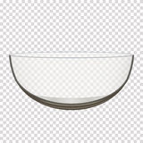 Transparent glass bowl vector illustration