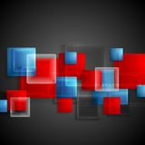 Transparent glass bright squares. Abstract tech Stock Photos