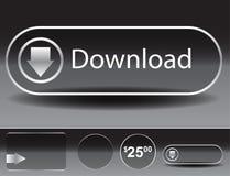 Transparent Glass Button Set Stock Images