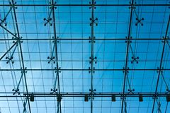 Transparent glass ceiling Stock Photos