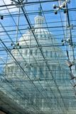 Transparent glass ceiling. In US capitol visitor center Royalty Free Stock Photos