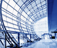 Transparent glass ceiling Stock Images