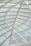 Transparent glass ceiling, modern architectural interior. Royalty Free Stock Photos