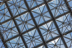 Transparent glass ceiling in modern office building Royalty Free Stock Images