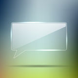 Transparent Glass chat box Stock Photo