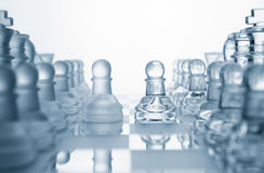 Transparent Glass Chess Stock Photography