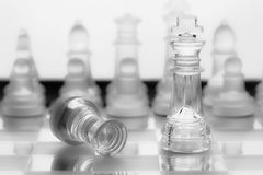 Transparent glass chess Stock Images