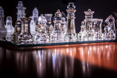 Transparent glass chess Royalty Free Stock Photography