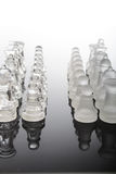 Transparent glass chess pieces. See my other works in portfolio Royalty Free Stock Images