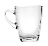 Transparent glass cup Stock Photography