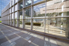 Transparent glass curtain wall Royalty Free Stock Image