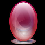 Transparent glass egg Royalty Free Stock Image