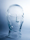 Transparent Glass Head Sculpture Royalty Free Stock Photography