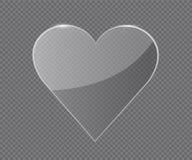 Transparent glass Heart Stock Photo