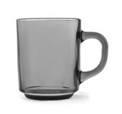 Transparent glass mug Royalty Free Stock Photography
