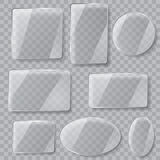 Transparent Glass Plates. Transparency Only In Vector File Stock Image