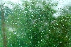 glass rain Royalty Free Stock Photography