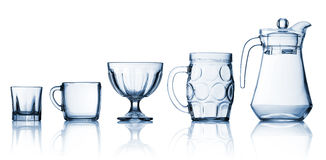 Transparent glass set Royalty Free Stock Image