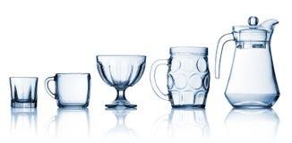 Transparent glass set Royalty Free Stock Image
