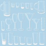Transparent glass set Stock Images