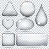 Transparent glass shapes Royalty Free Stock Photography
