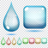 Transparent glass shapes vector illustration