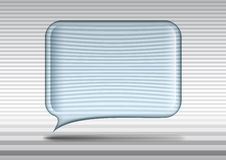 Transparent glass speech bubble Stock Photo