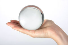 The transparent glass sphere Stock Photos
