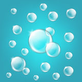 Transparent glass sphere with glares and highlight Royalty Free Stock Photos