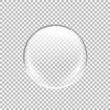 Transparent glass sphere with glares and highlights. vector illustration