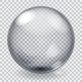 Transparent glass sphere with scratches Stock Images