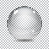 Transparent  glass sphere Stock Image