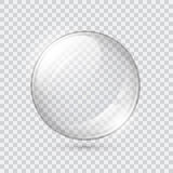 Transparent glass sphere Stock Photography