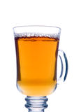 Transparent glass of tea Stock Image